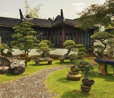como decorar jardin feng shui